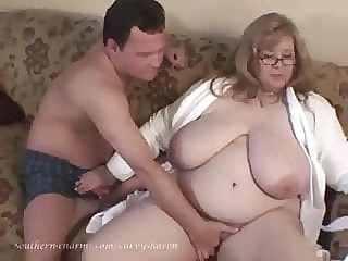 Curvy Sharon - Bedtime Foreplay With Auntie Sharon bbw mature handjob