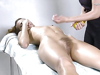 Lika Valasatik super hot hairy babe massaged babe lesbian massage
