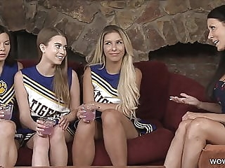 Mommy Reagan Foxx Fucks Her Daughter's Cheerleader Friend lesbian milf old & young