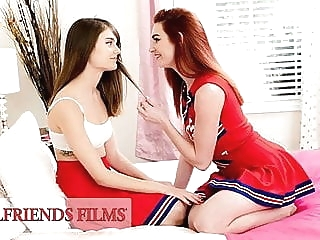 GirlfriendsFilms - Lacy Lennon Scissors Cheerleader Teammate fingering lesbian teen
