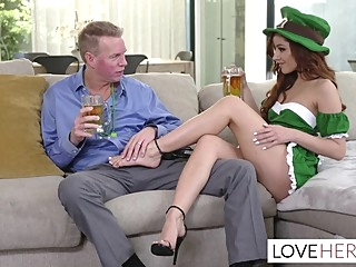 Vanna Bardot wants her stepdad to fuck her sexy feet fetish foot fetish footjob