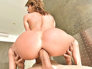 Nurse gets big fat cock out of pussy in deep throat... anal big ass big tits