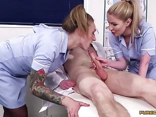 Nurses Georgie Lyall & Ava Austen Make A Doctor Cum blowjob cumshot pornstar