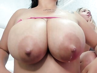 Busty Latina squirts milk while join up hangs down webcam hd videos big natural tits