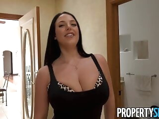 172. Busty real estate agent is pressing flannel babe blowjob pornstar