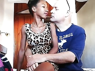 LBFM 18YO 38KG EBONY TEEN RAW FUCKING OLD WHITE COCK close-up hd videos skinny