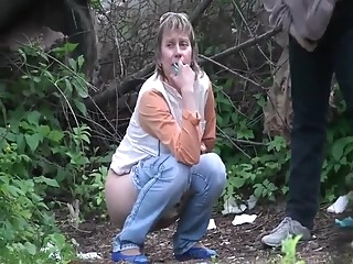 Voyeur pissing in the forest amateur brunette nudist