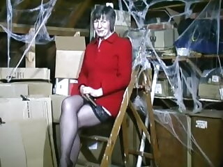 Mrs Jones in am-dram classic. amateur mature stockings