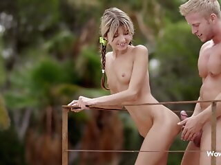 WOWGIRLS, Gina Gerson Pampered approximately Remarkable Foreplay blonde blowjob hardcore