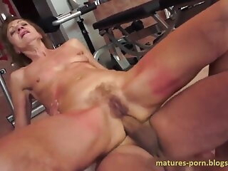 POONTANG – I Fucked your Granny in the Ass readily obtainable the Gym anal mature granny