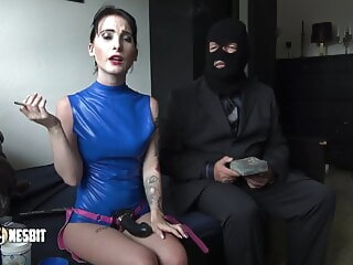 Smoking added to Pegging by Lou Nesbit sex toy hardcore femdom