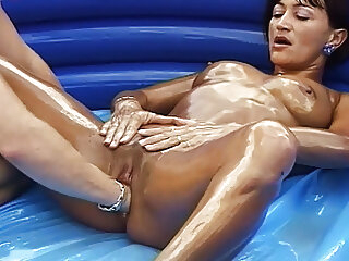 Oiled stepmom gets fisted into public notice blowjob mature milf