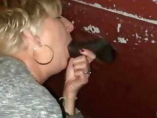 Gloryhole 1 amateur blowjob interracial
